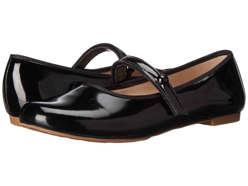 Elephantito Princess Flat Toddler/Little Kid/Big Kid Black Patent Girls Shoes