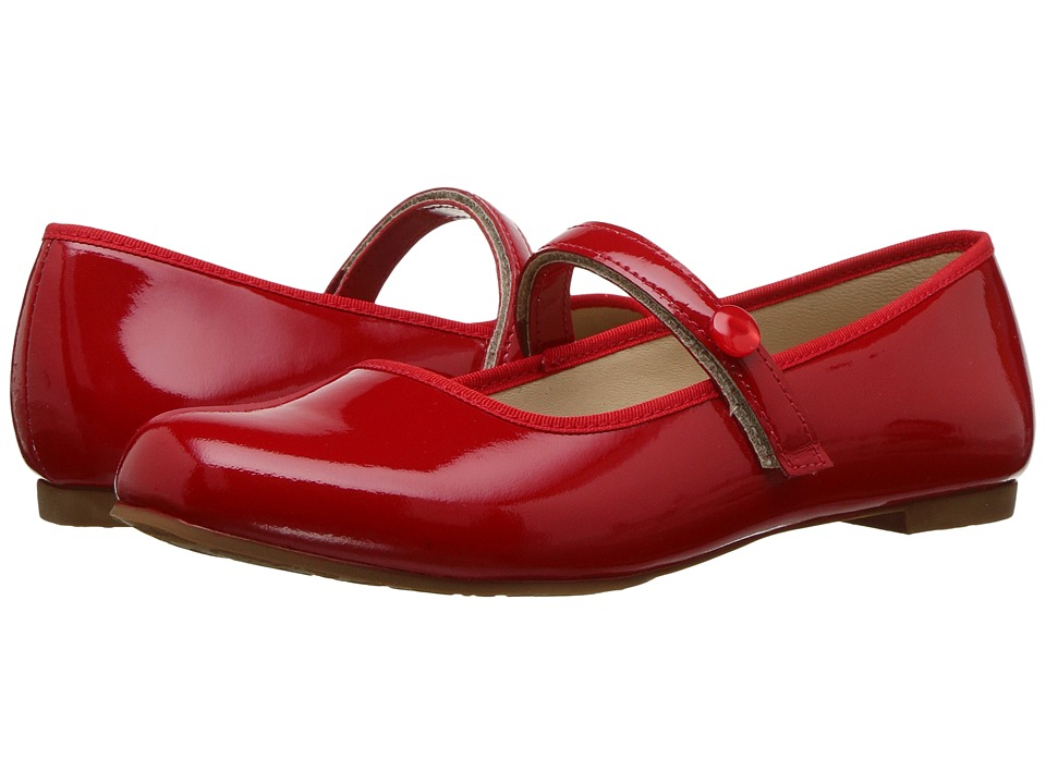Elephantito Princess Flat (Toddler/Little Kid/Big Kid) (Patent Red) Girls Shoes