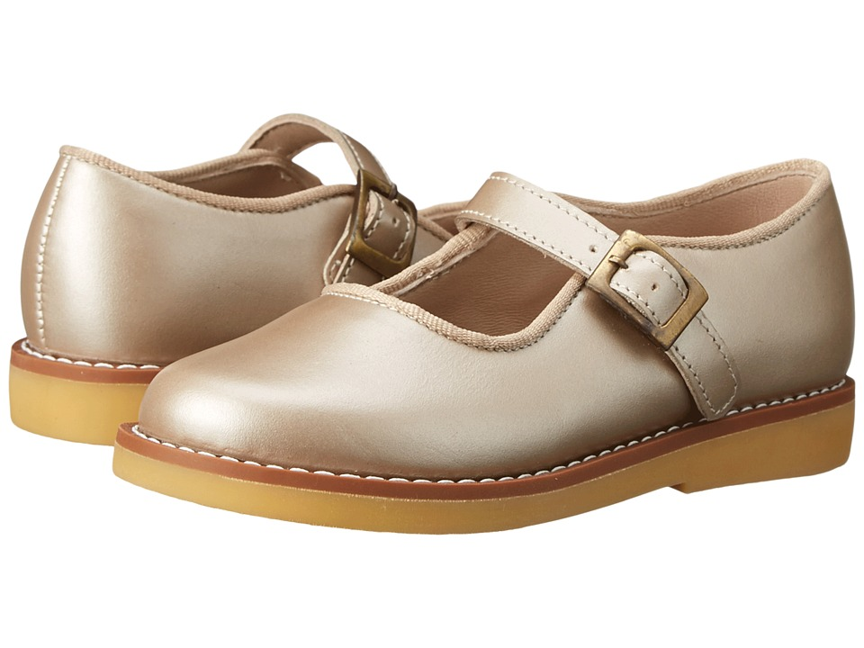 Elephantito Mary Jane w/ Buckle Toddler/Little Kid/Big Kid Champagne Girls Shoes