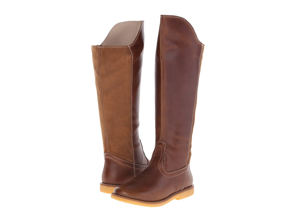 Elephantito Color Block Tall Boot Toddler/Little Kid/Big Kid Brown Girls Shoes