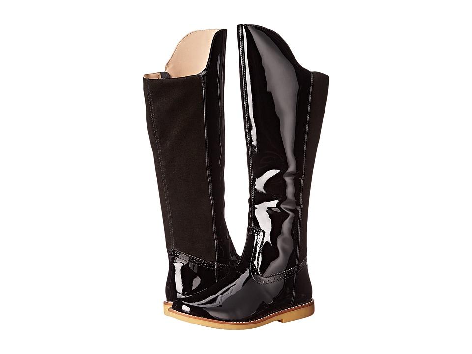 Elephantito Color Block Tall Boot Toddler/Little Kid/Big Kid Black Girls Shoes