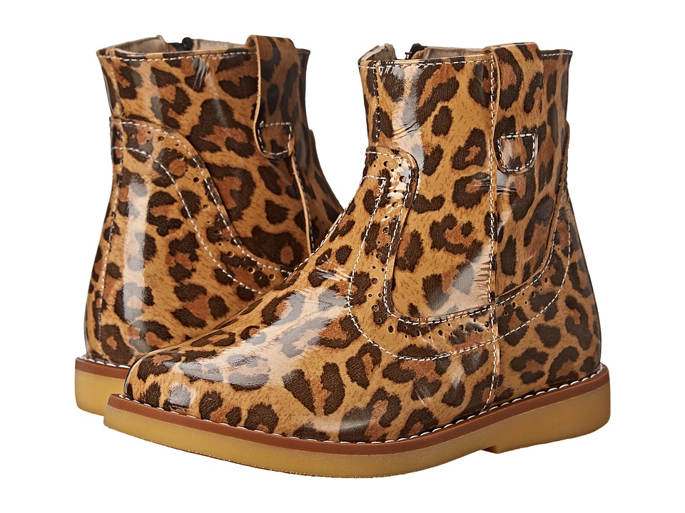 Elephantito Madison Ankle Boot Toddler/Little Kid/Big Kid Patent Leopard Girls Shoes