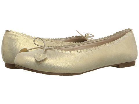 Elephantito Scalloped Ballerina (Toddler/Little Kid/Big Kid) - Suede Gold