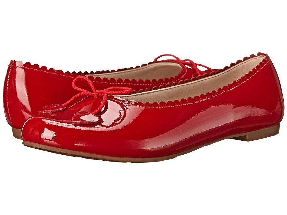 Elephantito Scalloped Ballerina Toddler/Little Kid/Big Kid Patent Red Girls Shoes