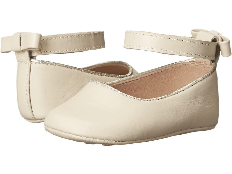 Elephantito Baby Ballet Flat Infant/Toddler Ivory Girls Shoes