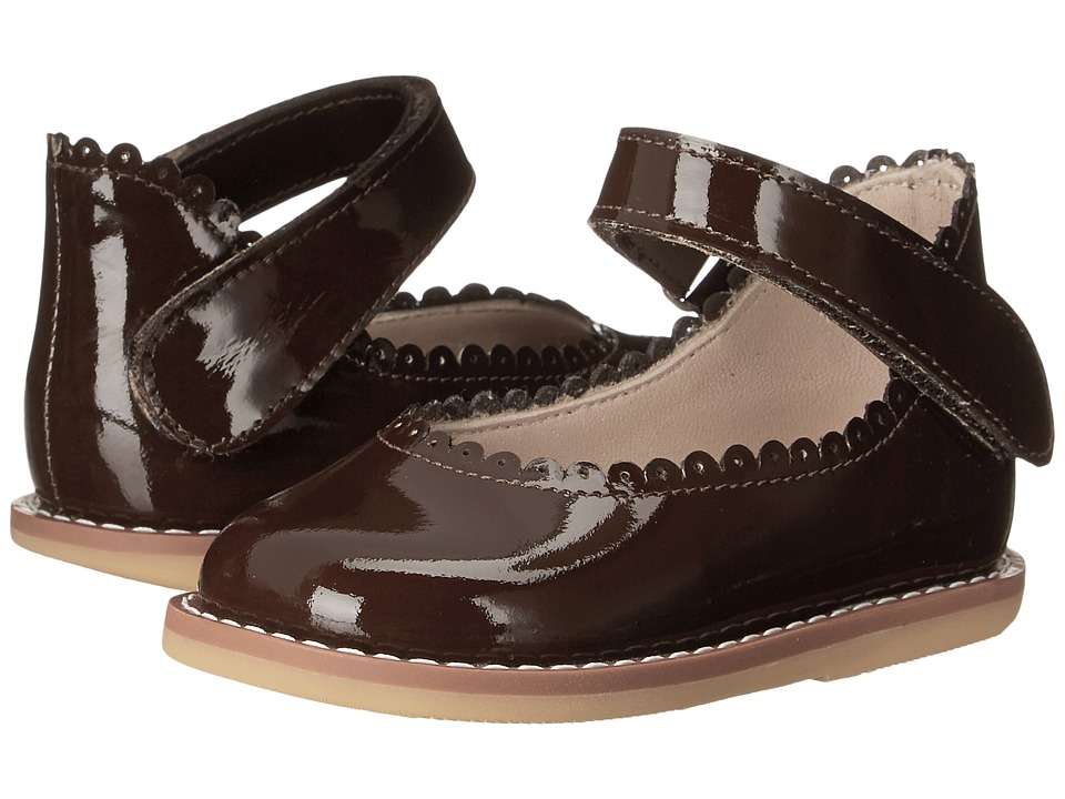Elephantito Ballerina Infant/Toddler Patent Brown Girls Shoes