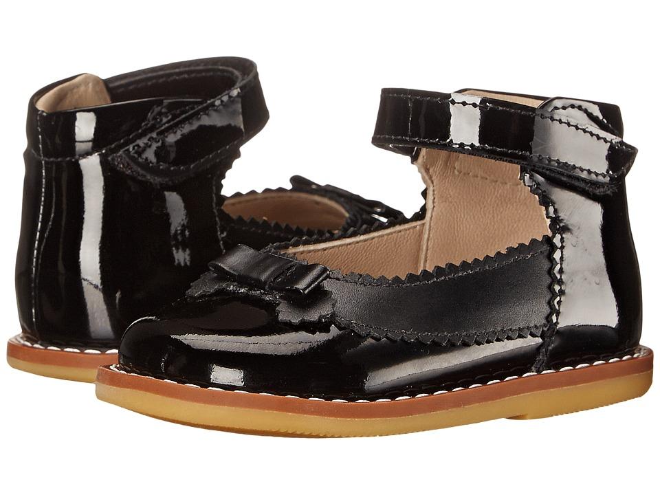 Elephantito Mary Jane w/ Bow Infant/Toddler Patent Black Girls Shoes