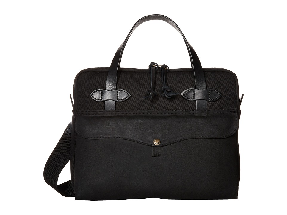 Filson - Tablet Briefcase (Black) Briefcase Bags