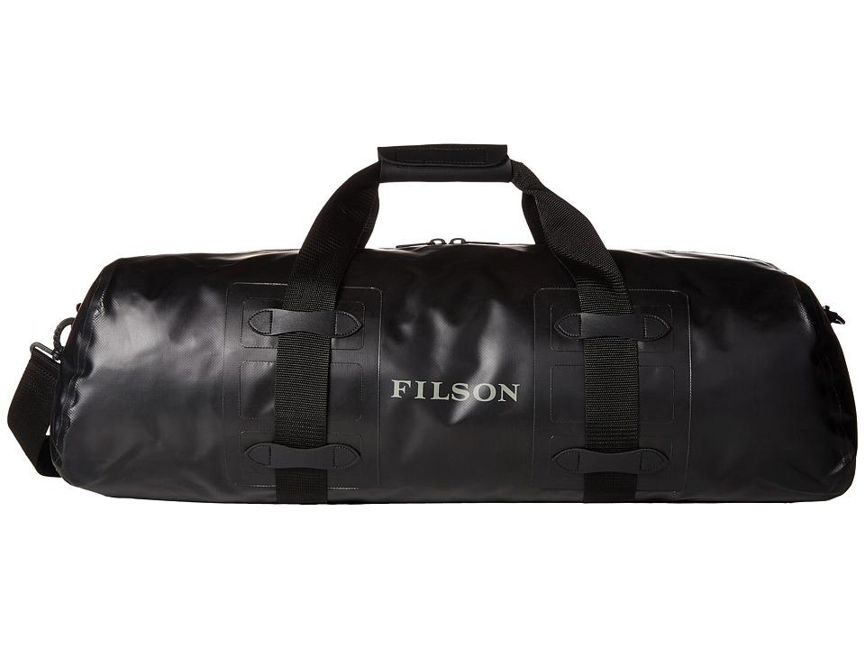 Filson - Dry Duffel - Medium Zip-Top (Black) Duffel Bags