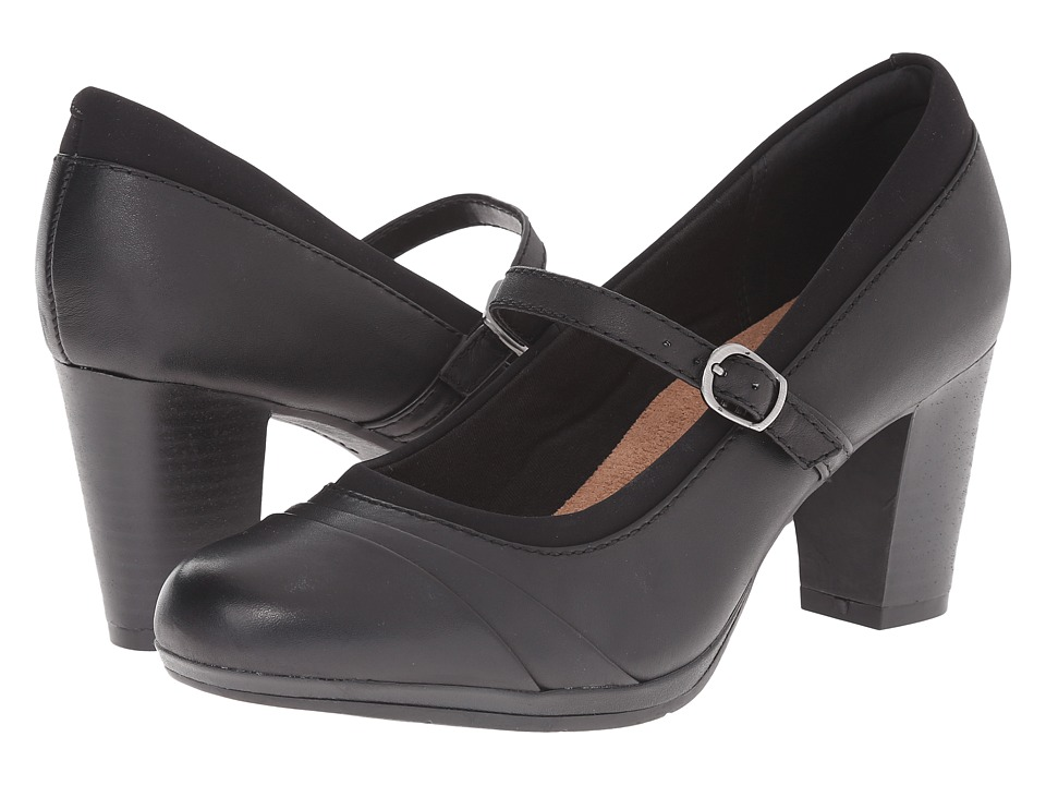 Clarks Brynn Ivy (Black Leather) High Heels
