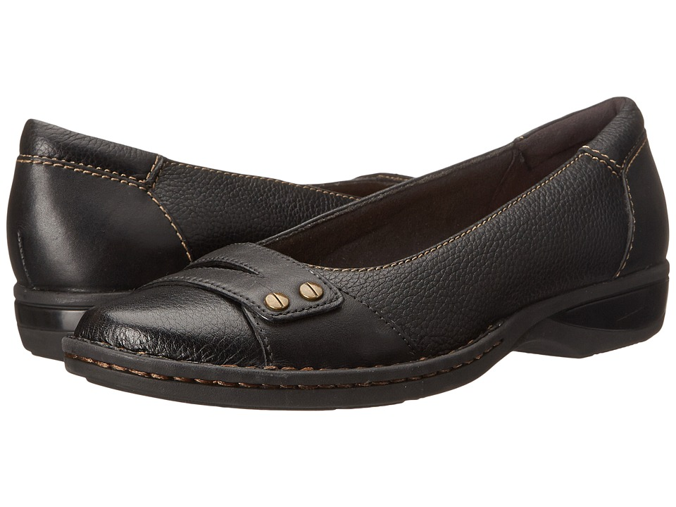 Clarks - Pegg Abbie (Black Leather) Womens  Shoes
