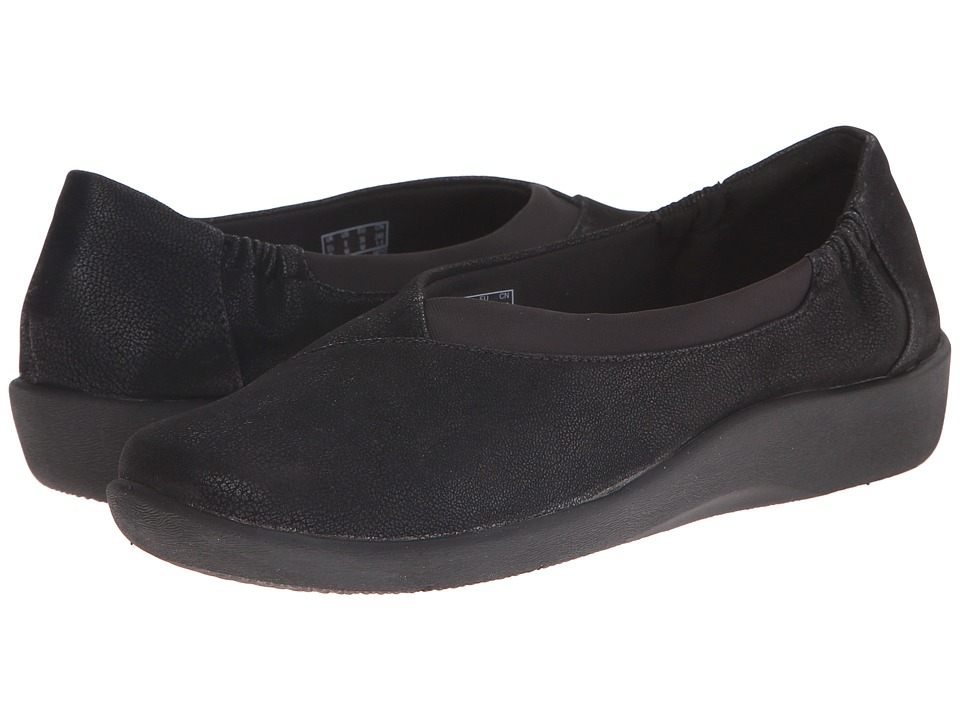 Clarks - Sillian Jetay (Black Nubuck) Women's Shoes