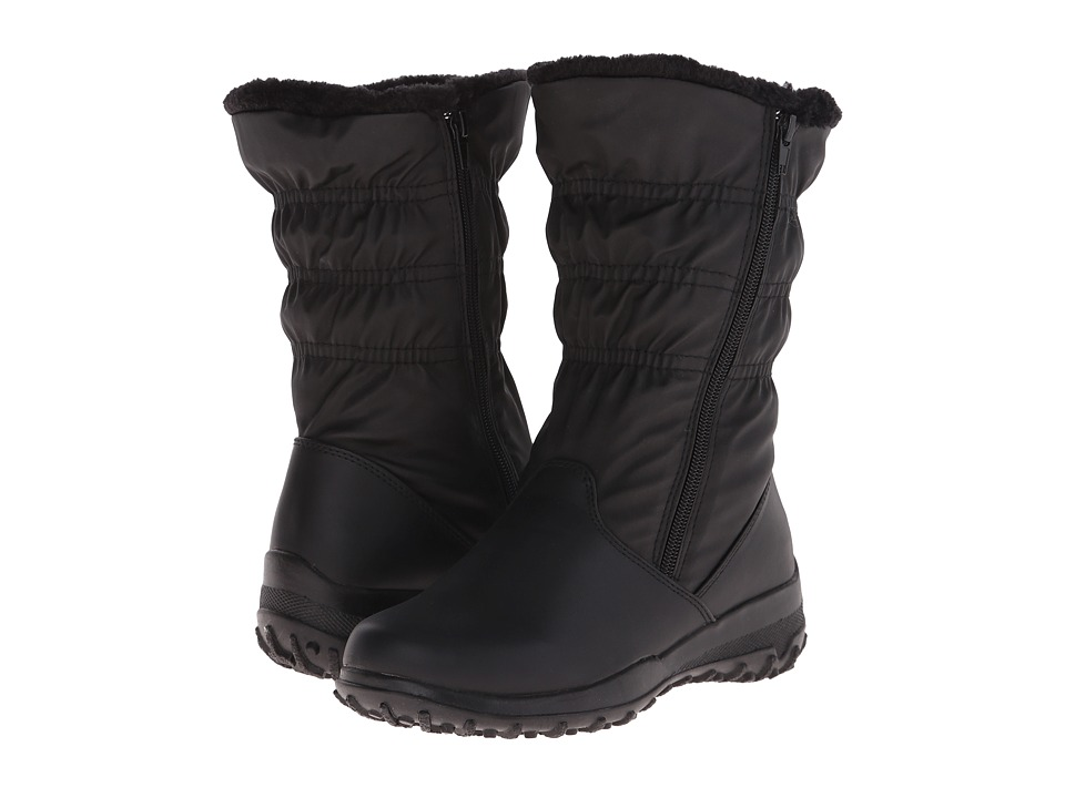 Tundra Boots Petra Wide Black Womens Work Boots