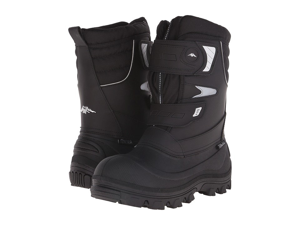 Tundra Boots Hudson Black/Silver Mens Work Boots