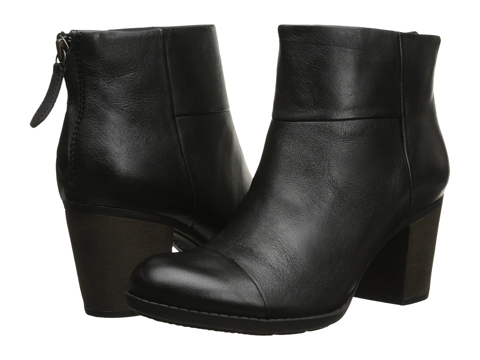 Clarks Enfield Tess Black Smooth Leather Womens Boots