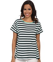 Jones New York - Stripe Short Sleeve Boxy Top