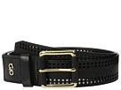 Cole Haan 42mm High Shine Veg Panel with Square Perferated Detail Belt