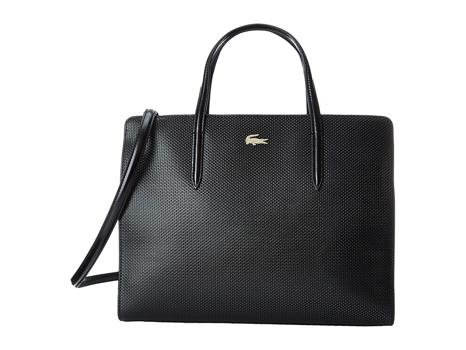 Lacoste - Chantaco Shopping Bag (Black) Handbags