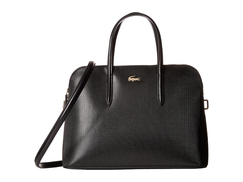 Lacoste - Chantaco Zip Around Top-Handle Satchel (Black) Satchel Handbags