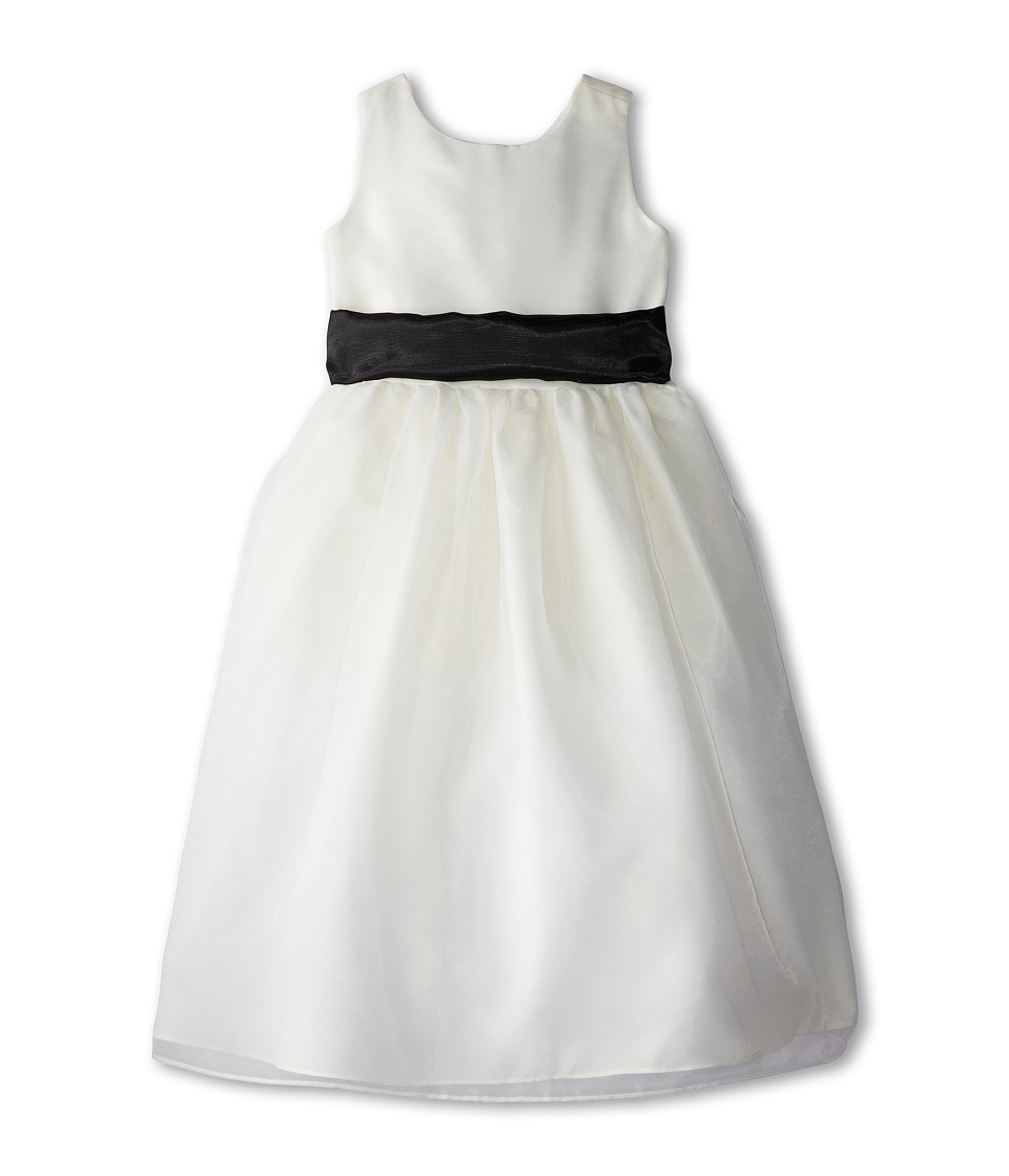 Us Angels Sleeveless Organza Dress Big Kids Black Girls Dress