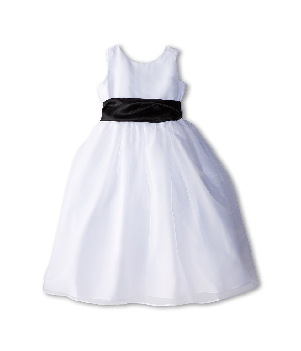 Us Angels Sleeveless Organza Dress Big Kids Black 1 Girls Dress