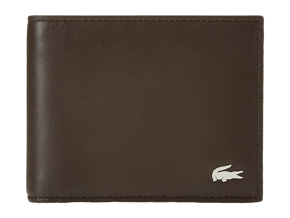 Lacoste - FG Small Billfold Key Ring (Dark Brown) Bill-fold Wallet