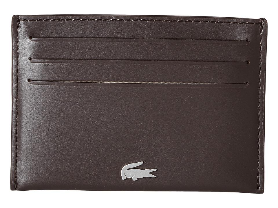 Lacoste - FG Credit Card Holder (Dark Brown) Credit card Wallet