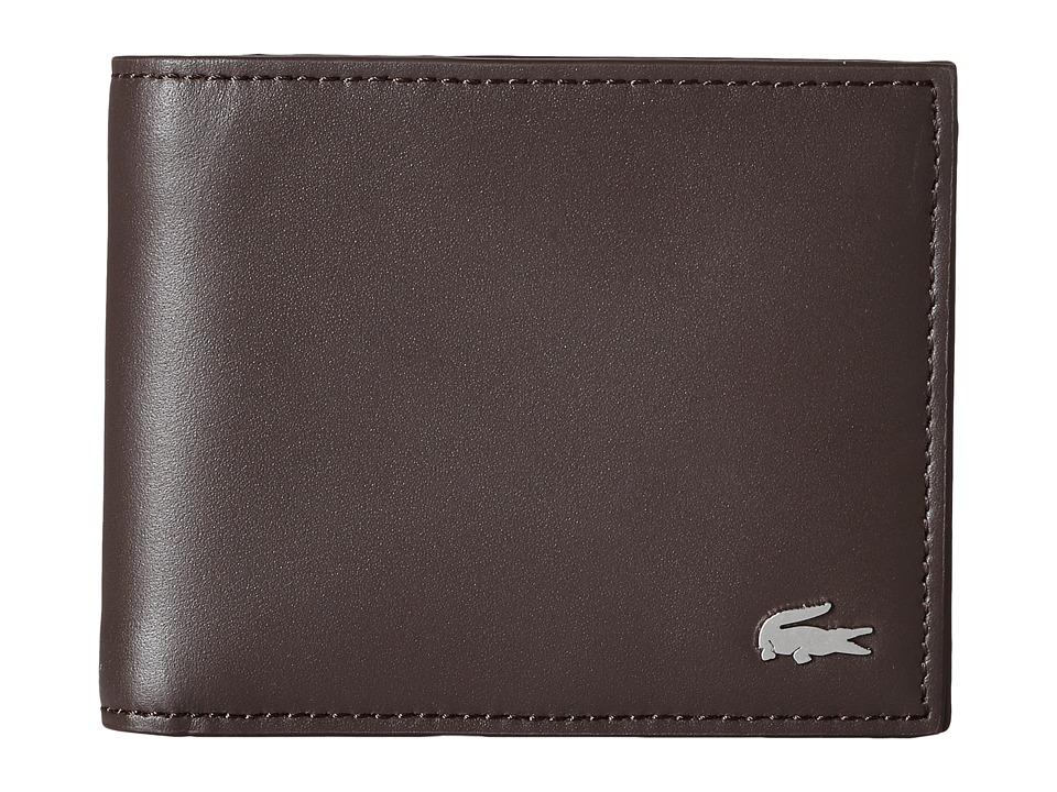 Lacoste - FG Small Billfold (Dark Brown) Bill-fold Wallet