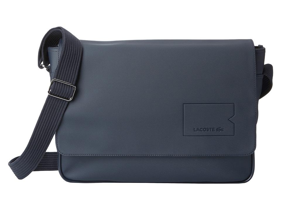 Lacoste - Classic Messenger Bag (Black Iris) Messenger Bags