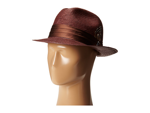Stacy Adams Toyo Fedora with Snap Brim and 3 Pleat Silk Band
