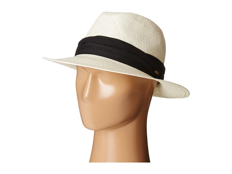 SCALA - Toyo Safari with Black 3 Pleat Cotton Band (Natural) Safari Hats