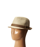 Stetson - Textured Fedora with Contrast Linen Band