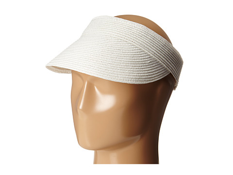 SCALA Paper Braid Visor - White