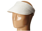 SCALA Paper Braid Visor with Velcro Back (White)