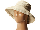 SCALA Cotton Big Brim Sun Hat with Inner Drawstring (Taupe)