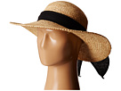 SCALA Big Brim Raffia with Linen Bow (Natural)