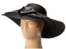 SCALA Polybraid Big Brim Sun Hat with Satin Bow (Black)