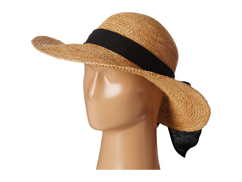 SCALA - Big Brim Raffia with Linen Bow Tea Caps $68.00 AT vintagedancer.com