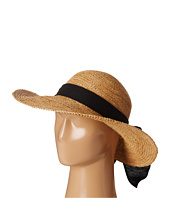 SCALA - Big Brim Raffia with Linen Bow