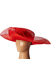 SCALA - Sinamay Split Brim with Flower and Feather Trim