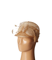 SCALA - Sinamay Cloche with Bow and Feathers Trim