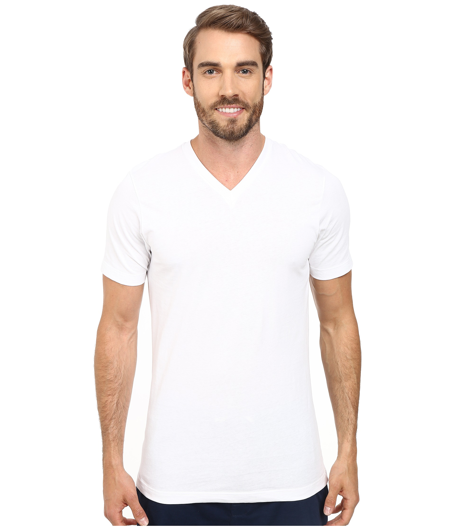 jockey cotton slim fit v neck neck t shirt 3 pack at