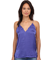 Free People - Sensual Satin Scallop Deep-V Cami