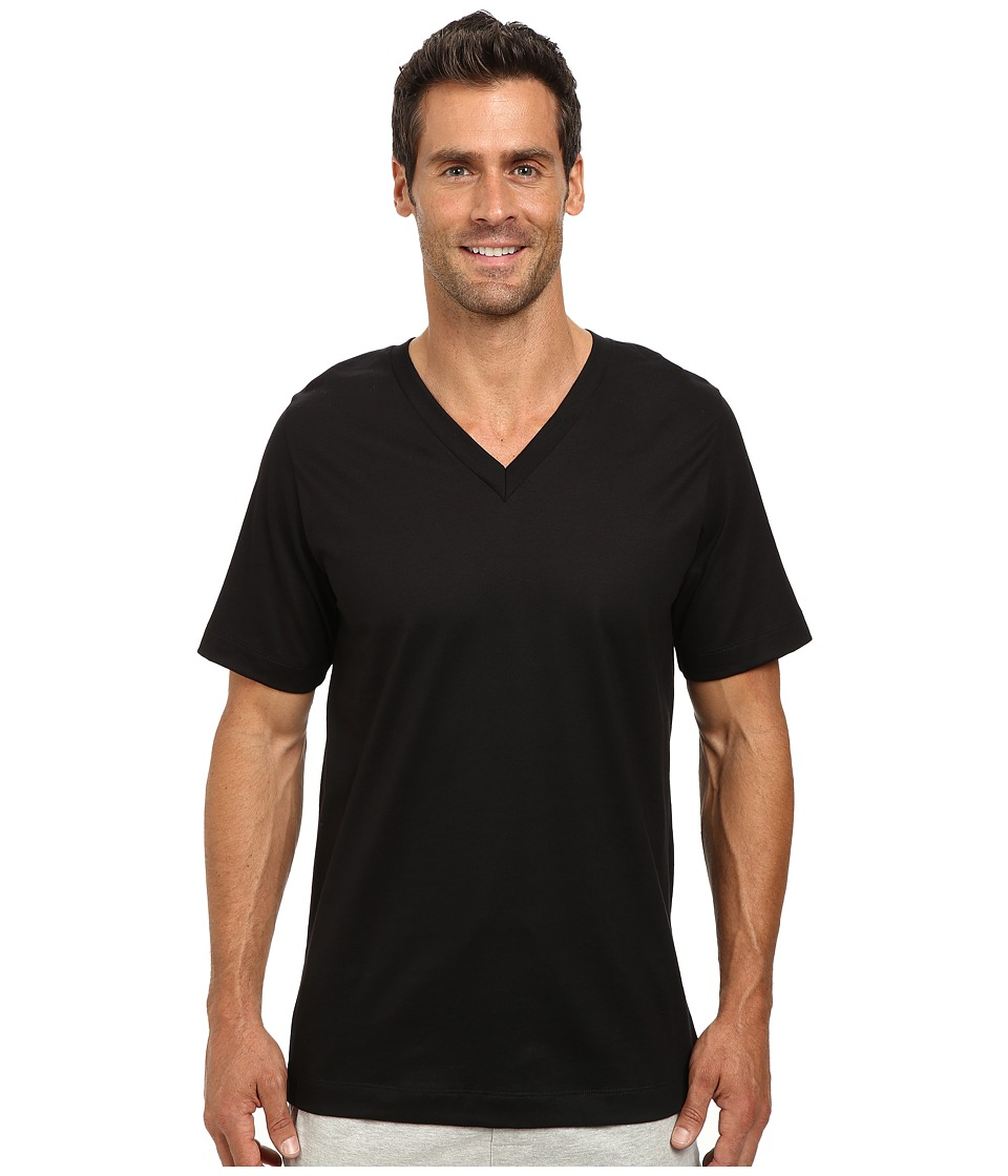 Jockey Cotton Staycool V Neck T Shirt 2 Pack Black Mens T Shirt