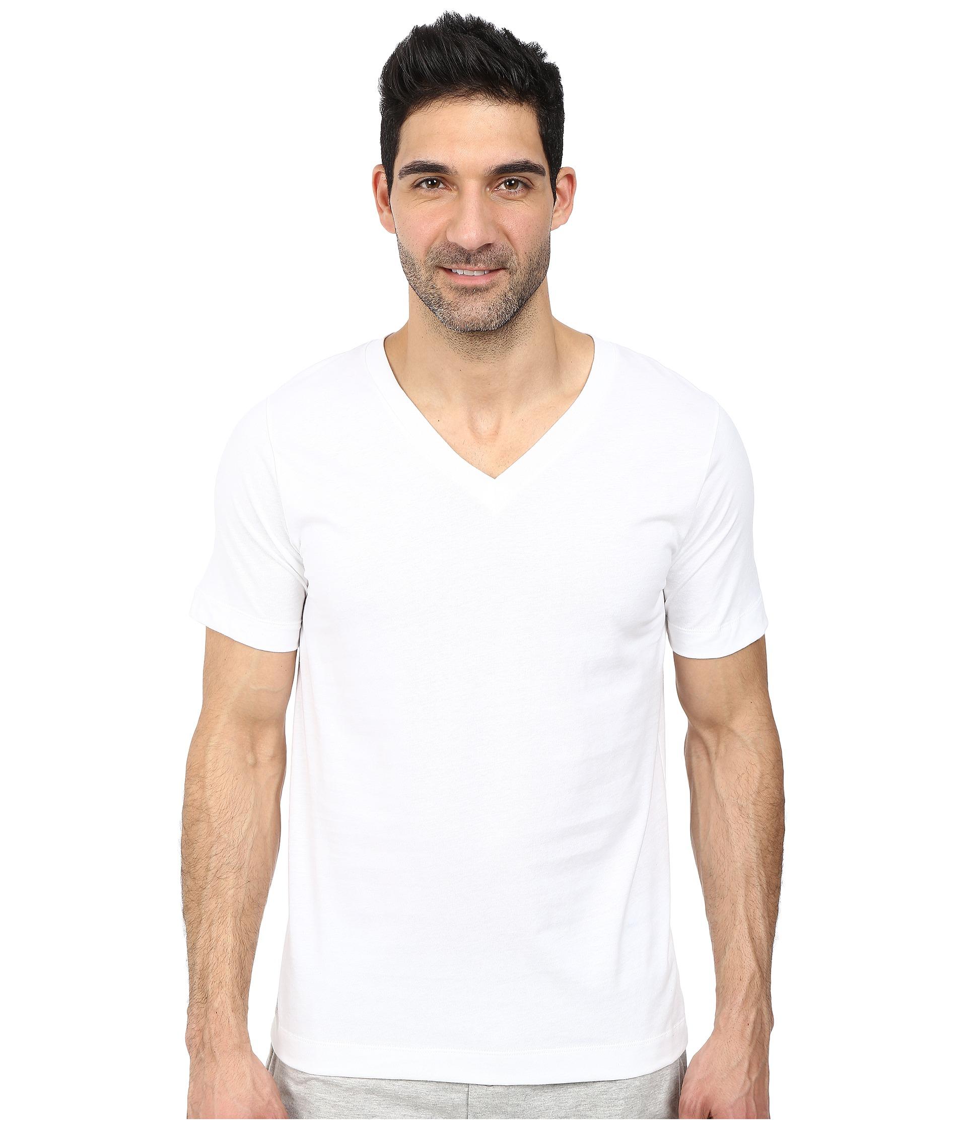 Jockey cotton staycool v neck t shirt 2 pack white for Jockey v neck shirt