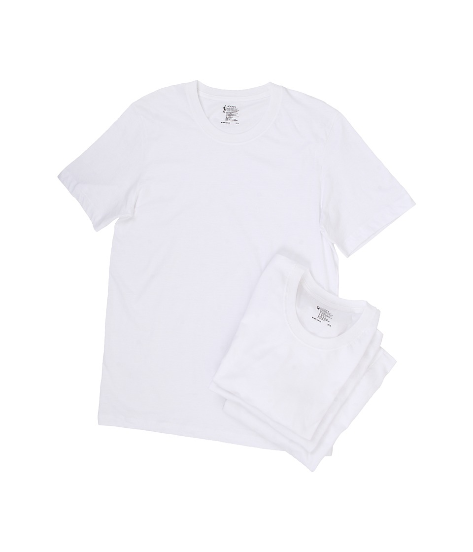 Jockey Active Blend Crew Neck T Shirt 4 Pack White Mens T Shirt