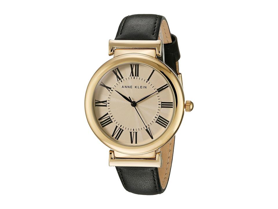 Anne Klein - AK-2136CRBK (Black/Gold Tone) Watches