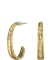 The Sak - Etched J-Hoop Earrings