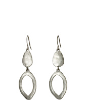 The Sak - Open Ring Double Drop Earrings