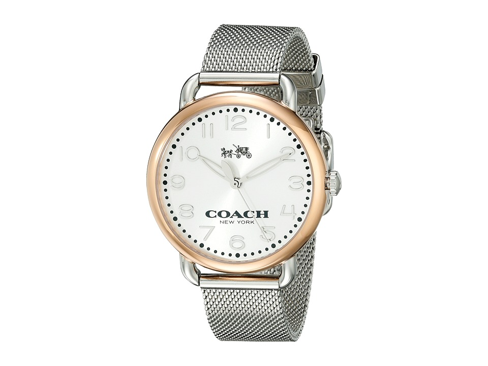 COACH - Delancey 36mm Mesh Bracelet Watch (Silver/Stainless Steel) Watches